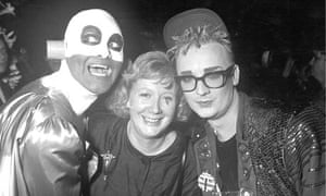 Watts with Boy George and Philip Salon, left.