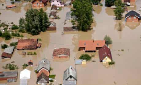 Floods in Orasje, Bosnia