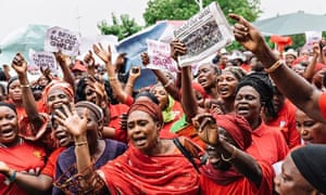 protest over abducted girls