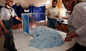 greek polling station in hellenikon