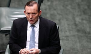 The prime minister, Tony Abbott, in the House of Representatives question time at Parliament House the day after the Coalition's first budget was delivered