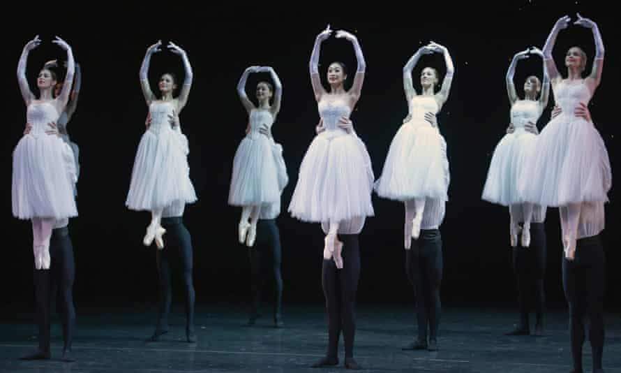 The Australian Ballet perform '50th Overture' during the Australian Ballet 50th anniversary gala.