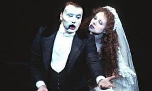 Michael Crawford and Sarah Brightman in The Phantom of the Opera