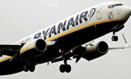 Ryanair profits down