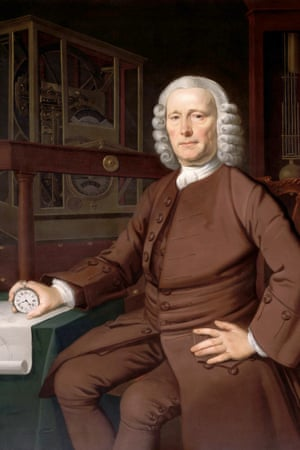 Harrison, the original Longitude prizewinner, with a watch made to his design by John Jeffries in 1753