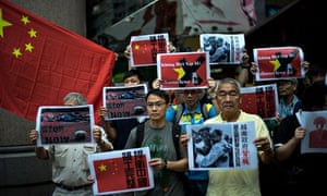 Anti-Vietnam protestsrt In Hong Kong