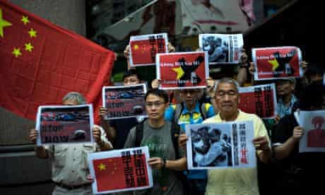 Anti-Vietnam protestsrt In Hong Kong