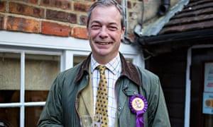 Nigel Farage with pint