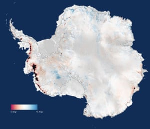 Three years of measurements from CryoSat show that the Antarctic Ice Sheet is now losing 159 billion tonnes of ice each year, enough to raise global sea levels by 0.45 mm per year