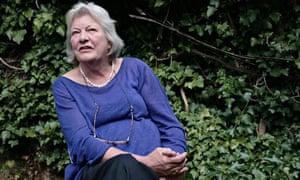 Lynn Barber at home in her garden