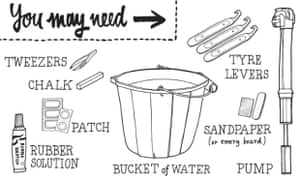 mend a bike puncture: things you will need