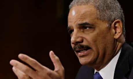 The US attorney general, Eric Holder