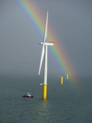 Walney offshore wind farm near Barrow in Furness
