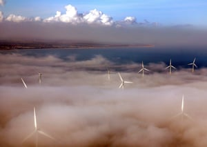 The windfarm off Scroby Sands in East Anglia