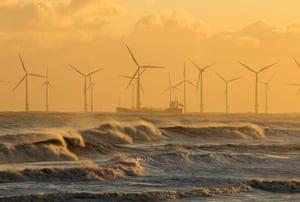 Seaton Carew beach near Hartlepool, north-east England