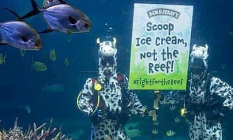 Ben & Jerry's Great Barrier Reef campaign
