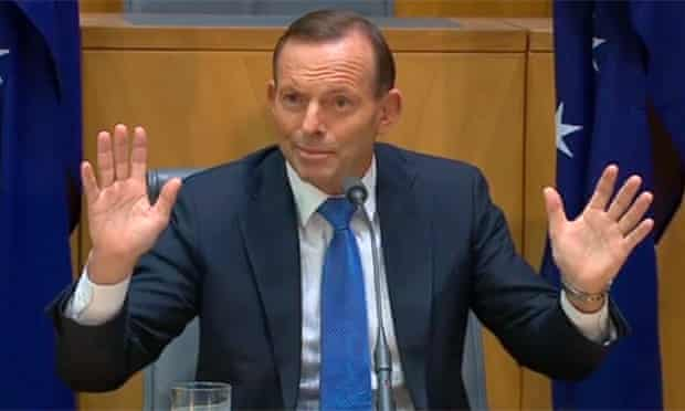 Tony Abbott speaks in Canberra