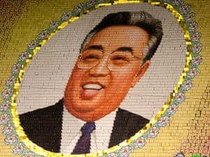 Anorther giant mosaic created by 10,000 North Koreans holding cards at the May Day stadium in Pyongyang, North Korea.