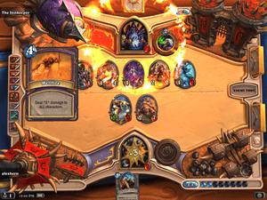 A Warlock deals the killing blow.