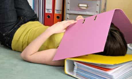 Teenage girl revising