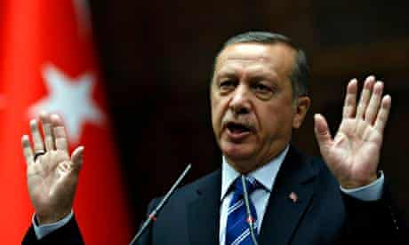 Turkey's prime minister, Tayyip Erdogan.