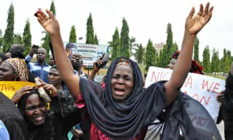 Kidnapped schoolgirls protest
