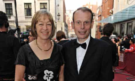 Jackie Ashley with her husband Andrew Marr