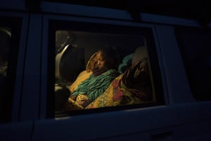 20 Photos: Pregnant women in a Unicef vehicle in the Central African Republic