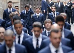 20 Photos: Barcelona players arrive at former coach Vilanova's memorial service