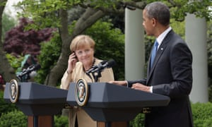 Merkel and Obama at White House