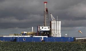 A Cuadrilla shale fracking rig in Preston, Lancashire.