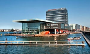 The Bimhuis music venue, on Amsterdam's IJ waterfront, hosts a monthly free jazz night.