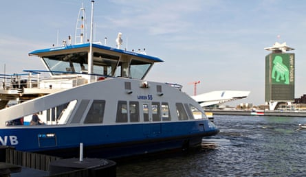 The free ferry service at Amsterdam Centraal.