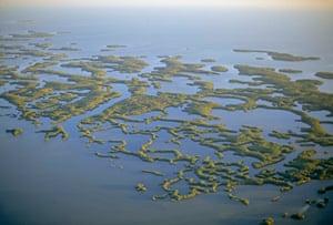 Florida. The Everglades' Ten Thousand Islands dot the coastal waters.