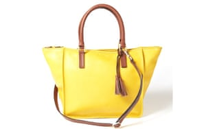 15 handbags under £150: 15 handbags under £150 - yellow leather with brown handles by Boden