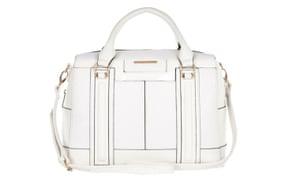 15 handbags under £150: 15 handbags under £150 - white oblong bowler handbag by River Island