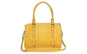 15 handbags under £150: 15 handbags under £150 - mustard yellow handbag by French Connection
