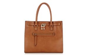 15 handbags under £150: 15 handbags under £150 - brown tote bag with zip on front by Warehouse