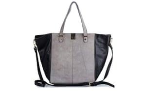 15 handbags under £150: 15 handbags under £150 - grey suede with black sides by River Island