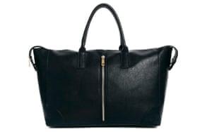 15 handbags under £150: 15 handbags under £150 - black wide handbag with vertical zip front by ASOS