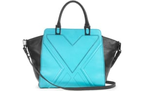 15 handbags under £150: 15 handbags under £150 - turquoise embossed bag with black wings by Milly