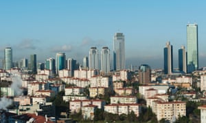 Residential buildings near the centre of Istanbul.