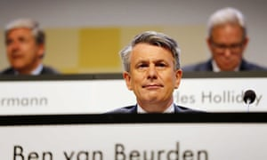 Ben van Beurden, Chief executive officer of Royal Dutch Shell during the annual general shareholders meeting at the Circustheater in The Hague, The Netherlands, 20 May 2014
