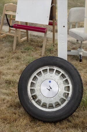 Adam Bartos  Honda wheel 2008, New York, United States  Series: Yard Sale