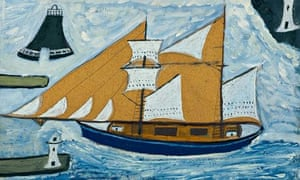 Detail of The Blue Ship by Alfred Wallis.