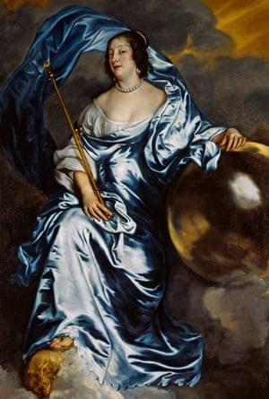 Goddesses … Rachel de Ruvigny, Countess of Southampton, as Fortune, by Van Dyck