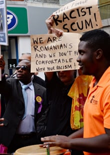 Ukip supporters clash with opponents in Croydon