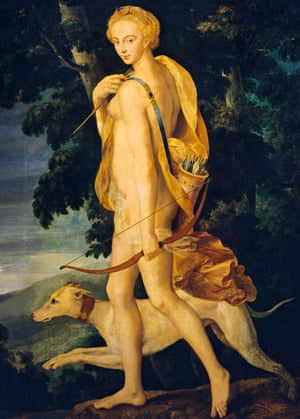 Goddesses … Diana the Huntress, by an unknown artist from the Fontainebleau school