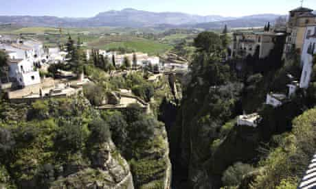 A view of the Guadalevin River and the city of Ronda