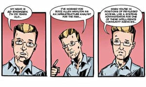 Pages from Beyond: The Edward Snowden Story. A graphic novel